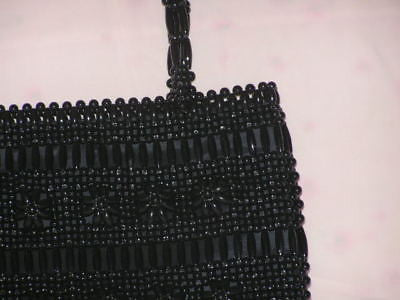 Black Beads Handmade Handbag