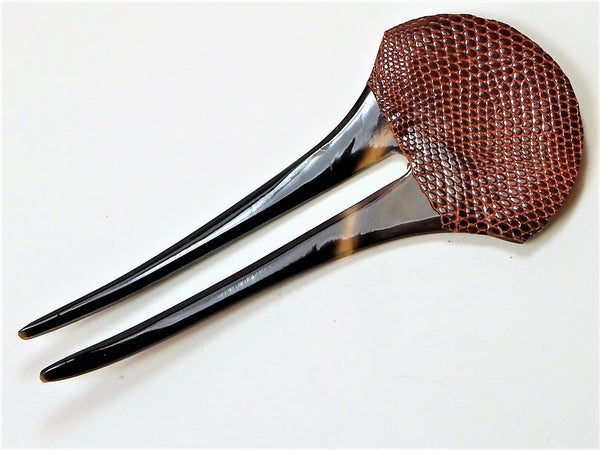 Buffalo Horn Leather Hairpin