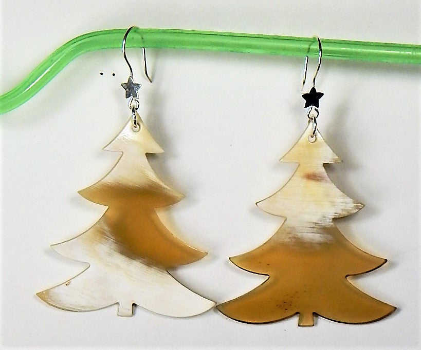 Christmas Buffalo Horn  Earring