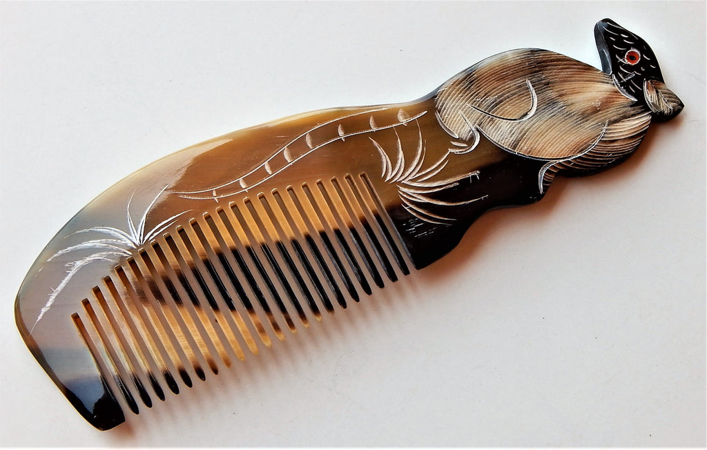 Buffalo Horn Hair Comb