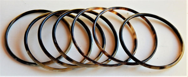 Set of 7 BUFFALO HORN BRACELETS
