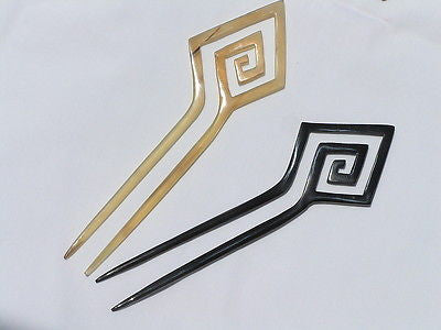 Clearance - Set of 2 Buffalo Horn  Hairpins