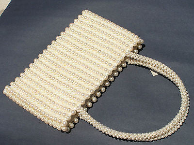 White Colorful Handmade Purse