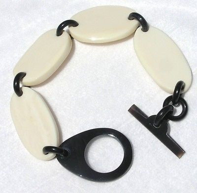 Buffalo Bone and Horn Bracelet Chain