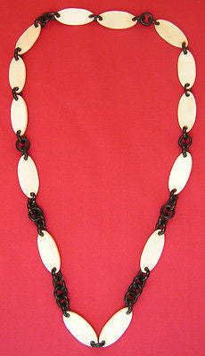 Buffalo horn & bone necklace