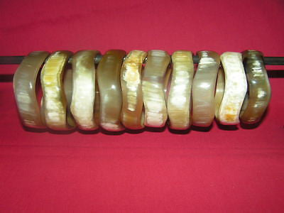 WHOLESALE LOTS 10pc BRACELETS  HANDMADE FROM HORN