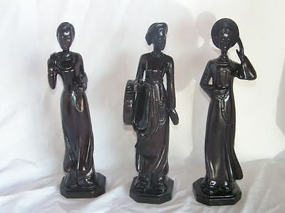 Vietnamese Woman Hand carved wood sculpture