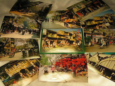 10 postcards of  Hanoi Vietnam Older Quarter