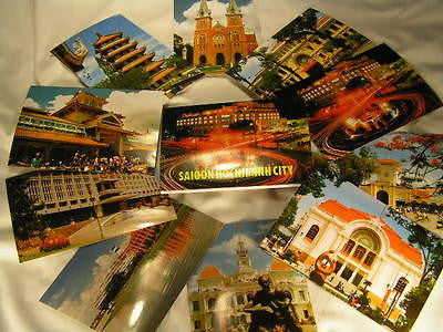 10 postcards of Saigon Vietnam
