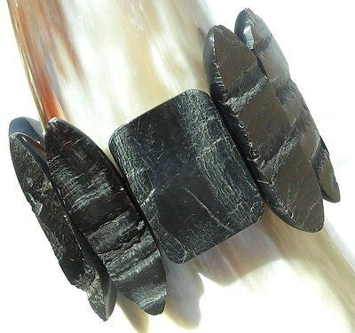 BUFFALO HORN STRETCH BRACELET