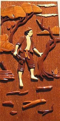 Hunting Man Setting Wall Hanging