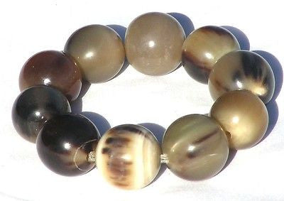 BUFFALO HORN BEAD STRETCH BRACELET