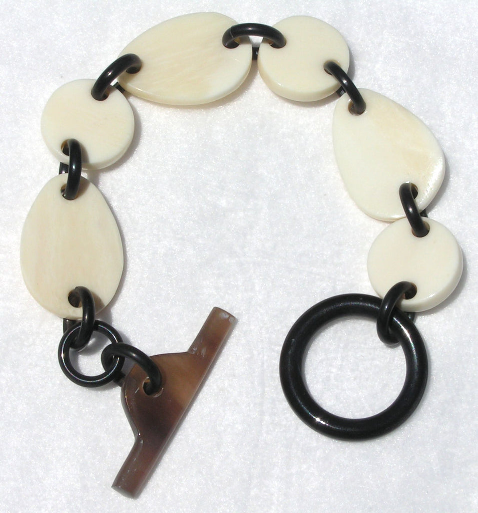 Buffalo Bone and Horn Chain Bracelet