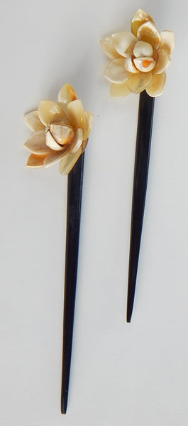 Set of 2 Buffalo Horn  Hair Sticks