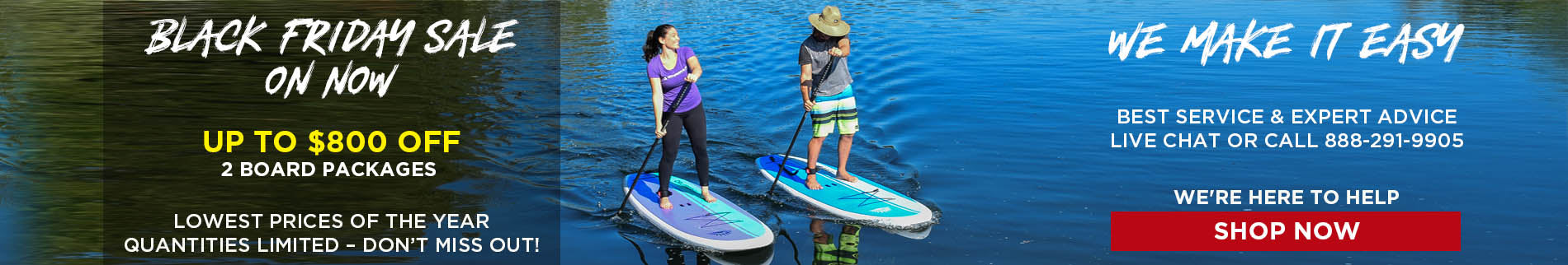 Blue Stand Up Paddle Boards