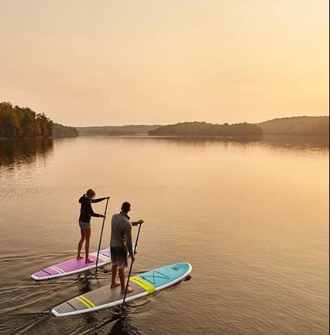 Paddleboarding on the Cruiser SUP Fusion