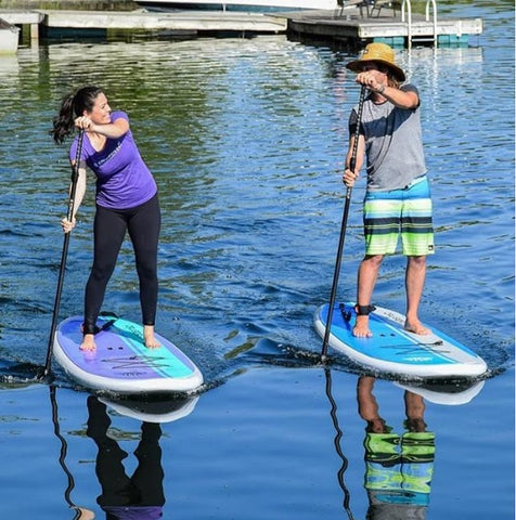 stand up paddle boarders on Cruiser SUP Dura-Maxx