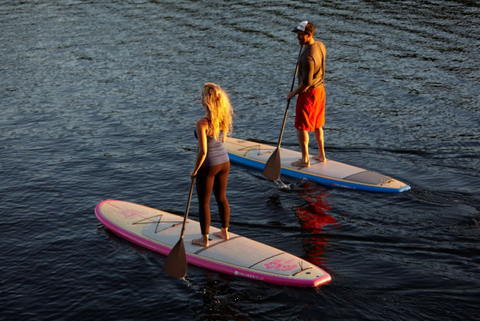 Paddle boarders in Calm Water