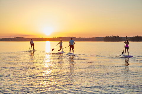 Paddle Boarders on a calm lake