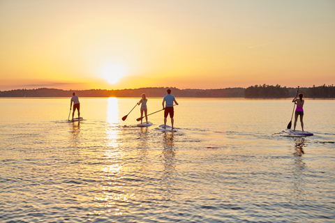 Paddle Boarders at Sunset