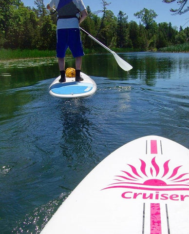 Cruiser SUP boards on Water