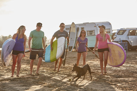 A group of Paddle Boarders