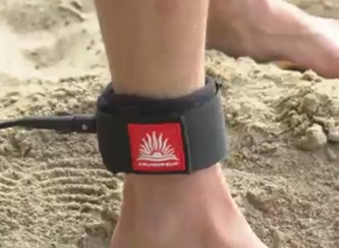 Installing a SUP Leash to Ankle