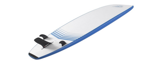 a paddle board with side fins installed