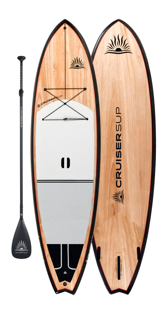 Two CruiserSUP® All-Terrain Ultra-Lite Wood/Carbon Paddle Boards