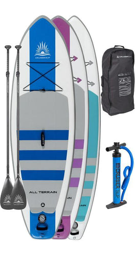 "Two Escape AIR 8'5"" - 11'4"" Inflatable Paddle Board Package - Cruiser SUP"