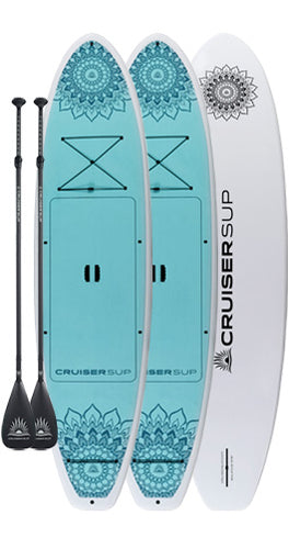 "Two CruiserSUP® Balance 10'6"" Paddle Boards with Full Length Pad, Dura-Shield Shell By Cruiser SUP®"