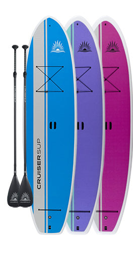 Two CruiserSUP® Dura-Maxx Paddle Boards with Full Length Deck Pad, Dura-Shield Shell