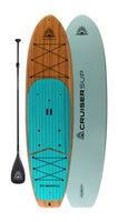"CruiserSUP® Xplorer 11'4"" Woody Paddle Board With Dura-Shield Shell"