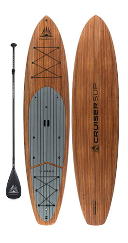 CRUISER SUP® V-MAX LTD 12' Woody Hybrid-Touring Paddle Board