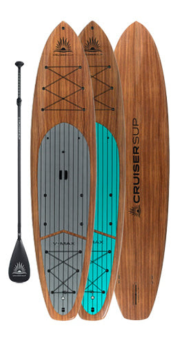 V-MAX 12' Woody Hybrid-Touring Paddle Board By CRUISER SUP®