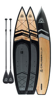 "Two CRUISER SUP® V-MAX LTD 12'6"" Touring Wood/Carbon Paddle Board Package"