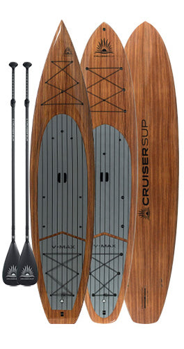 Two CRUISER SUP® V-MAX Woody Touring Paddle Board