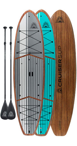 Two CRUISER SUP® XPEDITION LE Woody Paddle Board Package