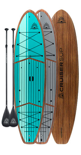 Two XPEDITION Woody Paddle Board Package