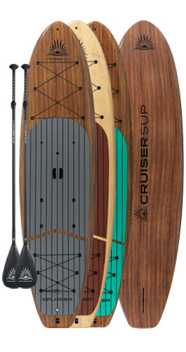 Two CRUISER SUP® XPLORER Woody Paddle Board Package