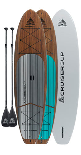 Two XPLORER Classic Woody Paddle Board Package