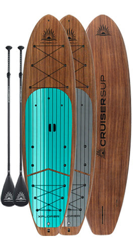 Two XPLORER SE Woody Paddle Board Package