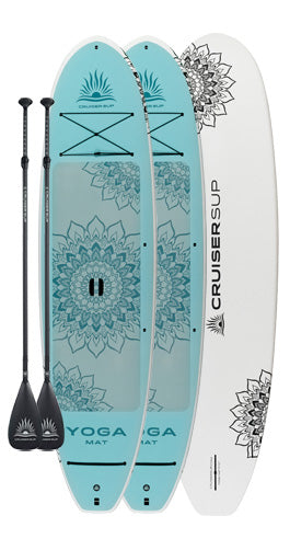 Two YOGA MAT Wood / Carbon Paddle Board Package