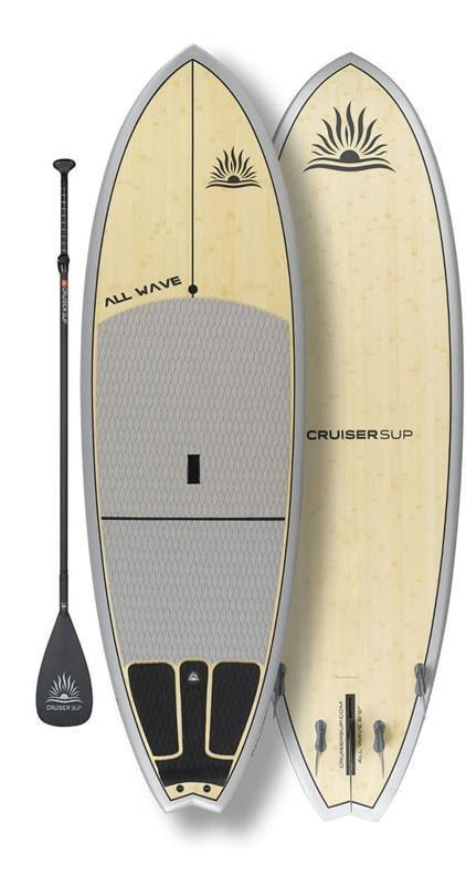 "Cruiser SUP All-Wave Classic 7'11""-8'10"" Ultra-Lite Bamboo/Carbon/Kevlar w/ FCSII Fin System"