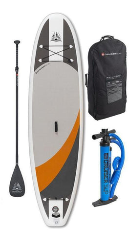 "Cruiser SUP Crossover Air DL 10'2"" - 11'6"" Double Layer Inflatable w/Wheeled Back Pack - Cruiser SUP"