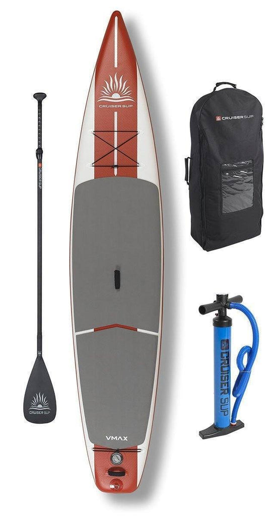 "CruiserSUP® V-Max 12'6"" and 14'  Race/Touring Inflatable w/Wheeled Back Pack - Cruiser SUP"