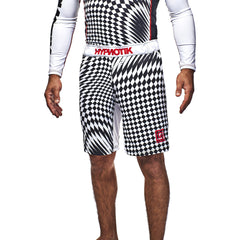 Checker Vortex Fight Shorts