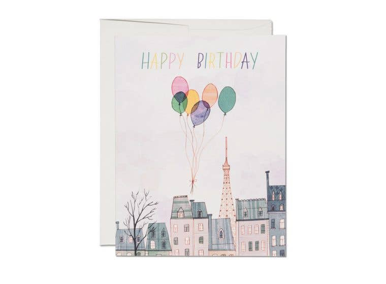 Paris Balloons Card