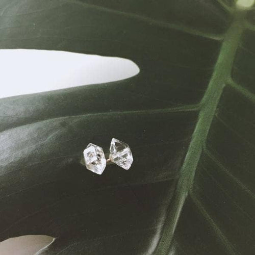 Herkimer Stud Earrings in Sterling Silver