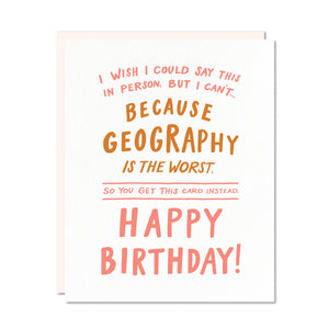 Odd Daughter Paper Co. - Geography Card